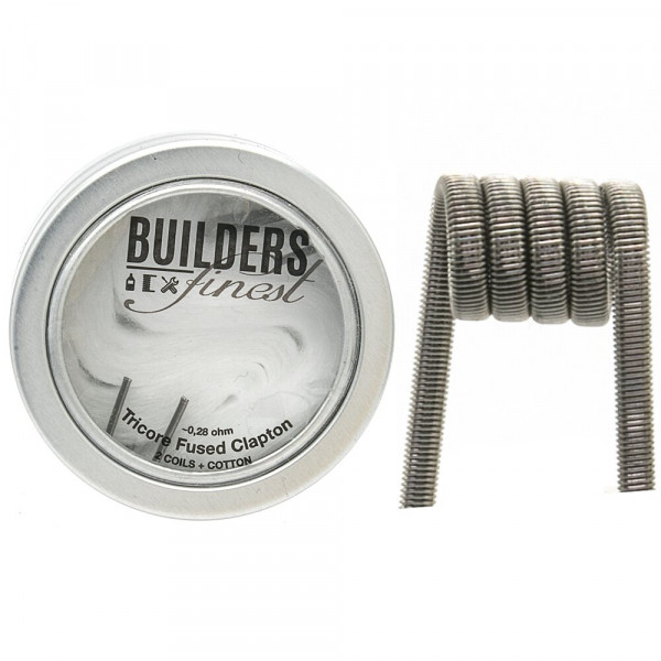 Builders Finest Handmade Tricore Fused Clapton 0,28Ohm