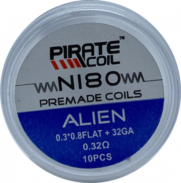 Pirate Coil NI80 Alien 0,32 Ohm