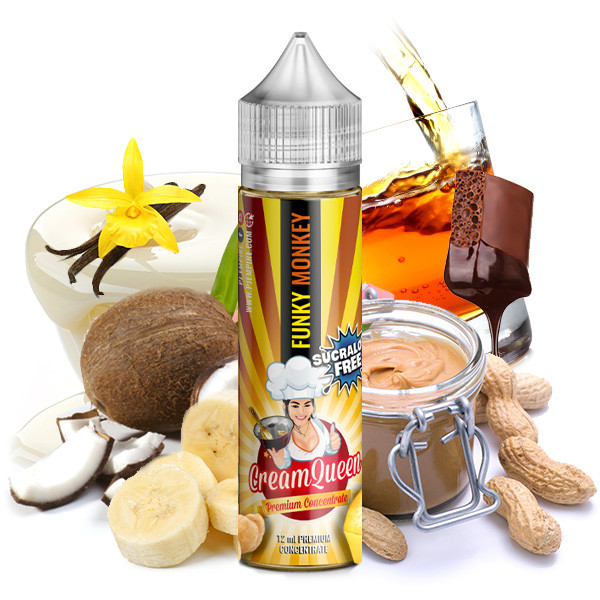Cream Queen Funky Monkey (sucralose frei)